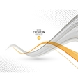 Abstract background gray and orange wavy vector image