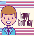 american labor day vector image vector image