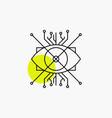 ar augmentation cyber eye lens line icon vector image vector image