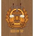 barrel of beer vector image vector image