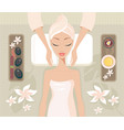 beautiful young woman relaxing spa salon face body vector image vector image