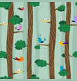 birds on different branches vector image vector image