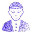 boy icon grunge watermark vector image vector image