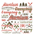 Camping typographic badges for t shirt vector image vector image