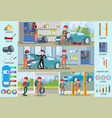 car repair service infographic concept vector image