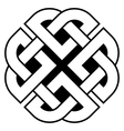 Celtic Quaternary knot vector image vector image