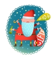 Cheerful Fun Monster crazy Santa Claus with gifts vector image vector image