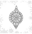 christmas coloring tree decoration bauble vector image