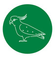 cockatoo parrot icon in thin line style vector image vector image
