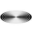 concentric circle oval resonance waves vector image vector image