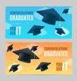 congratulation graduates banner horizontal set vector image