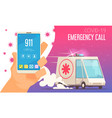 covid19 emergency call composition vector image vector image