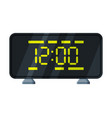 digital table alarm clock with green light vector image vector image
