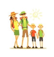 Family Of Four Travelers vector image vector image