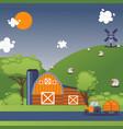 farmland summer landscape vector image vector image