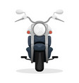 fashionable black motorcycle travelling at speed vector image