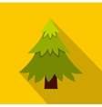 Fir tree icon flat style vector image vector image