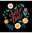 flower wedding invitation card save date vector image vector image