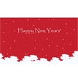 Happy Neaw Years scenery with red sky vector image