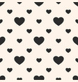 hearts seamless pattern valentines day background vector image