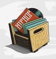 hip hop vinyl records storage box image vector image vector image