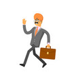 Indian businessman hurrying to work