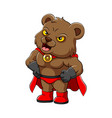 liar bear with red cloak and shoes vector image