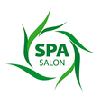 logo with green leaves for Spa salon vector image vector image