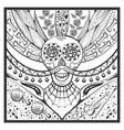 mexican zentangle day of dead dia de muertos vector image