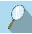 Mirror flat icon with shadow vector image vector image