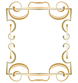 Multilayer ornate frame on a white background vector image vector image