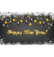 new year background for holiday greeting card vector image
