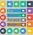 No Volume icon sign Set of twenty colored flat vector image