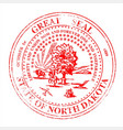 north dakota seal rubber stamp vector image vector image