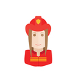 object firefighter avatar vector image