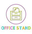 office stand round linear icon bright template vector image
