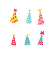 pack various party hats vector image