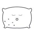 pillow bed kawaii character vector image