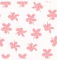 pink angel hibiscus pattrn vector image vector image