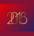 plexus of golden numbers 2018 on gradient vector image