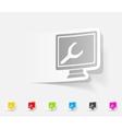 realistic design element computer service vector image