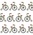 retro bicycle pattern background vector image