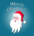 santa claus cartoon character vector image
