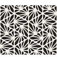 Seamless Black and White Floral Organic vector image vector image
