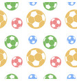 seamless soccer pattern vector image vector image