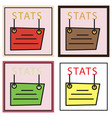 set of statistics icon infographic chart symbol vector image vector image