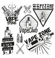 Set of vape shop labels in vintage style