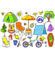 set picnic color vector image vector image