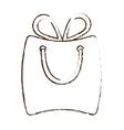 sketch draw bag gift paper shop online vector image vector image