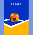 soccer championship posters design vector image